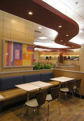 小型快餐厅装修设计 吊顶装饰效果图