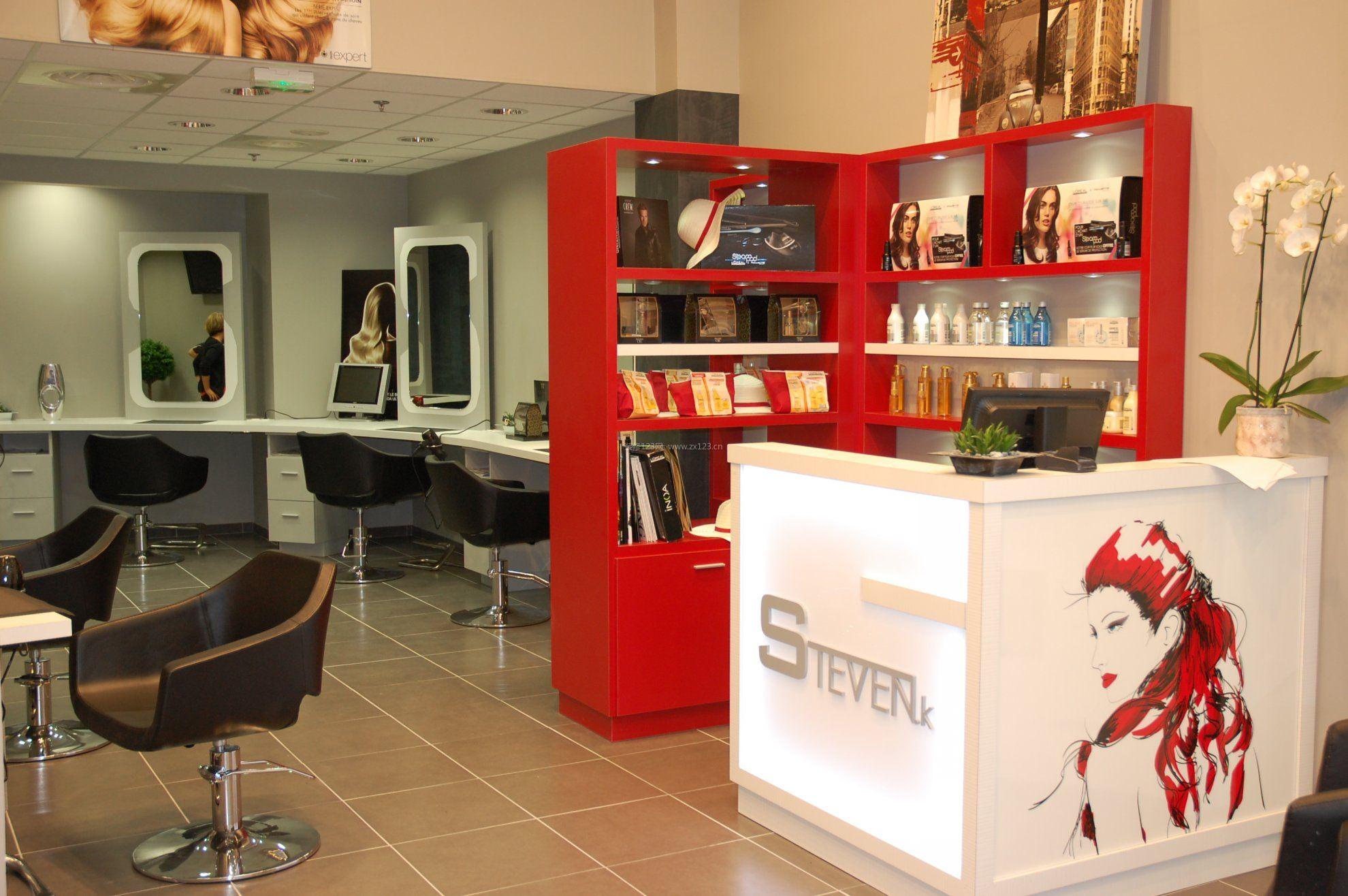 美发店吧台装修效果图片