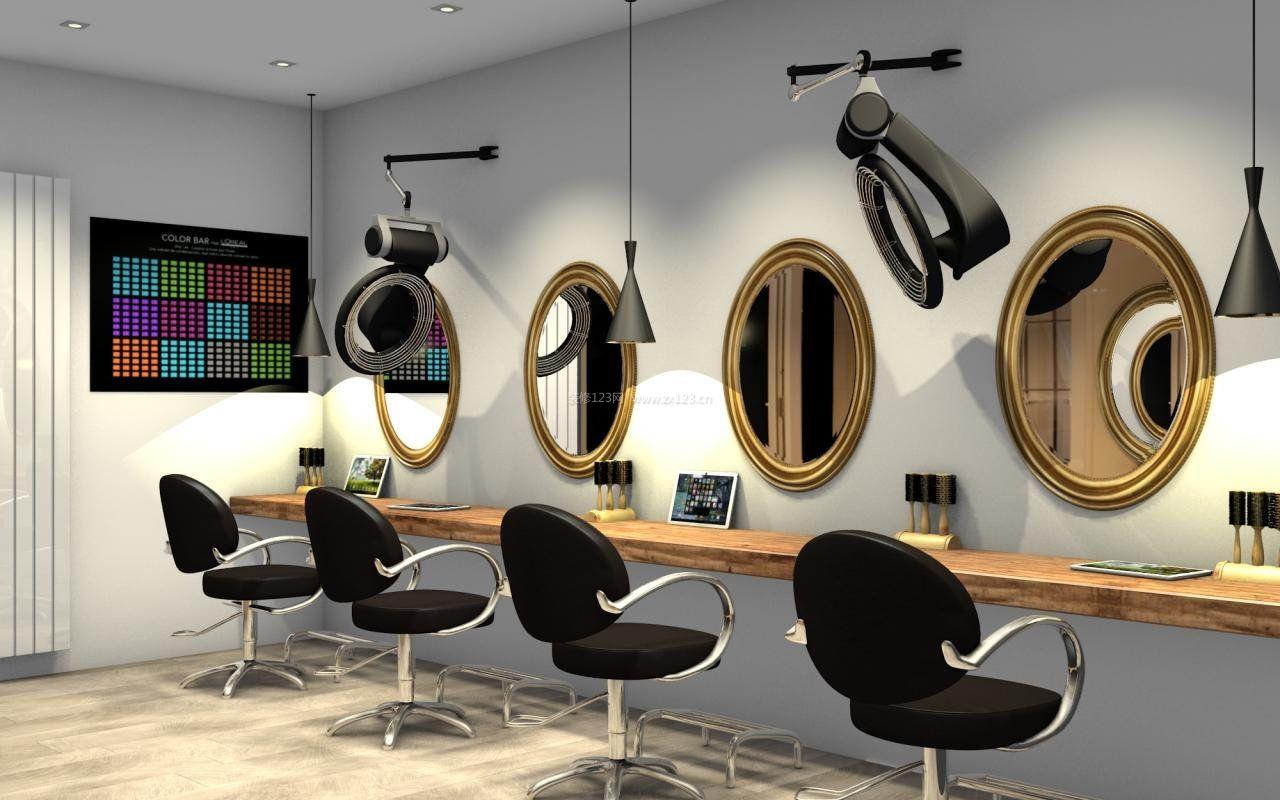 简约时尚风格专业美发店装修图片