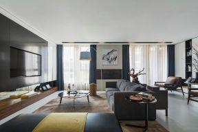 現代簡約大氣客廳 客廳電視墻裝修設計