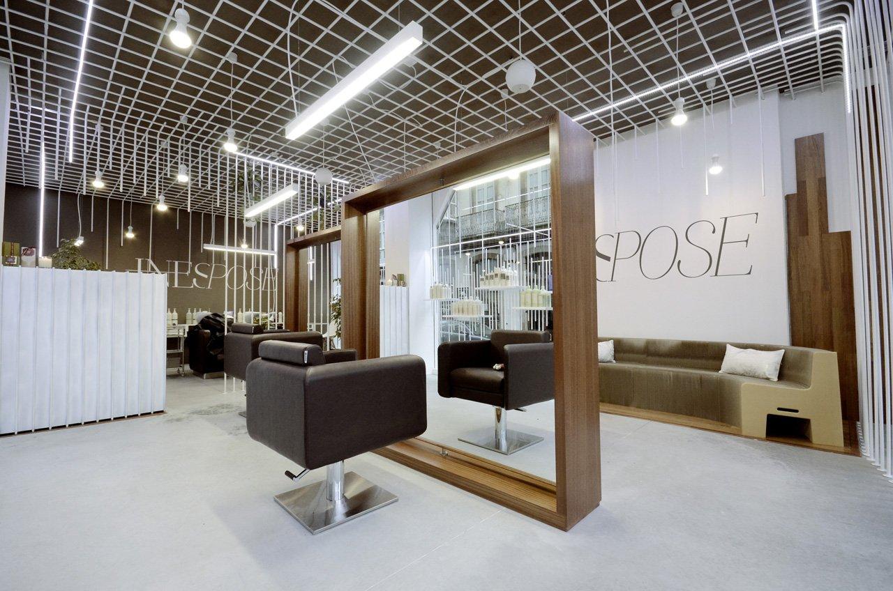 韩国美发店吊顶设计装修效果图片