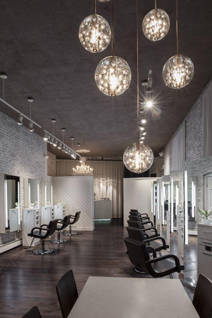 美发店装修天花吊顶灯设计效果图
