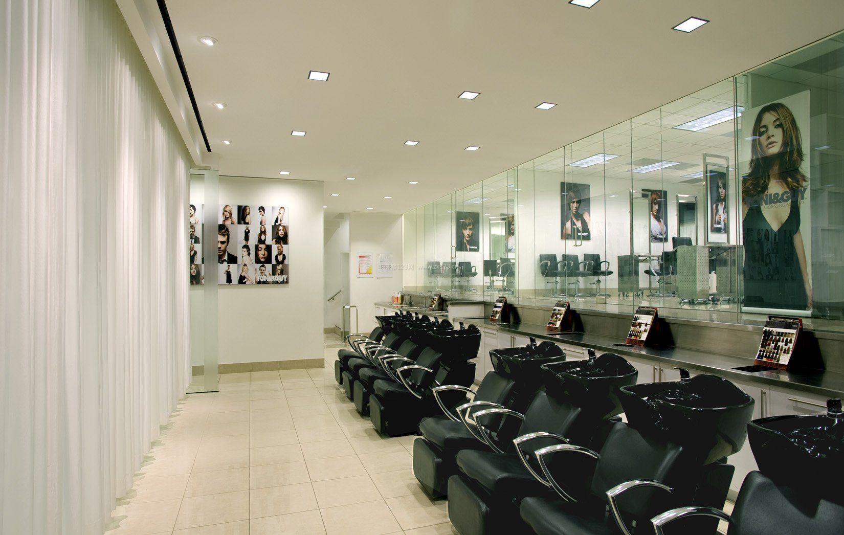 室内韩国美发店洗头房装饰装修图片