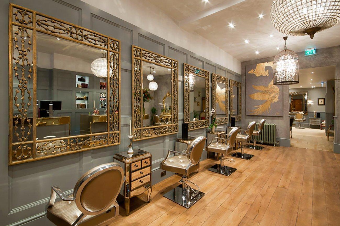 欧式古典风格美发店简单装修图