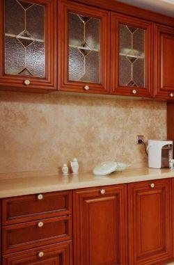 中式簡約裝修風格廚房壁柜效果圖