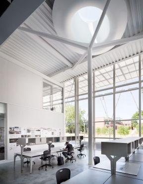 50平方米办公室装修 吊顶设计装修效果图片