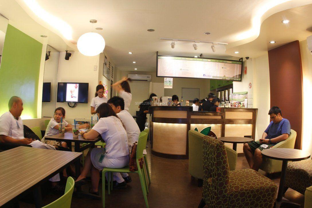 奶茶店店铺装修设计图