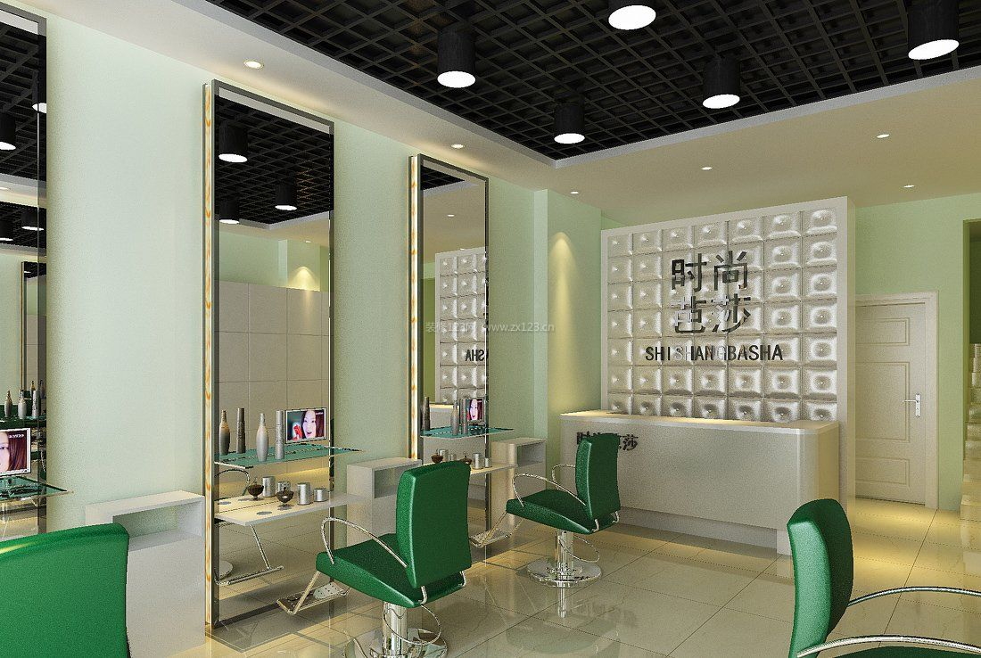 小型美发店室内装修设计图片