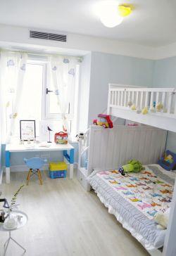 现代家庭儿童房高低床装修效果图
