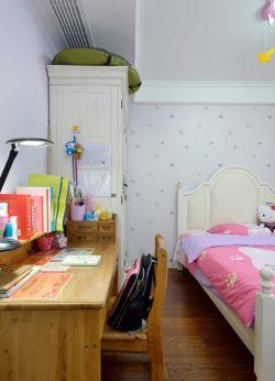 简约田园风格儿童房卡通壁纸装修效果图