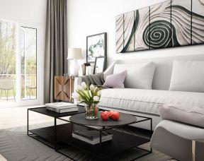 小戶型簡約背景墻 小戶型客廳裝修圖片