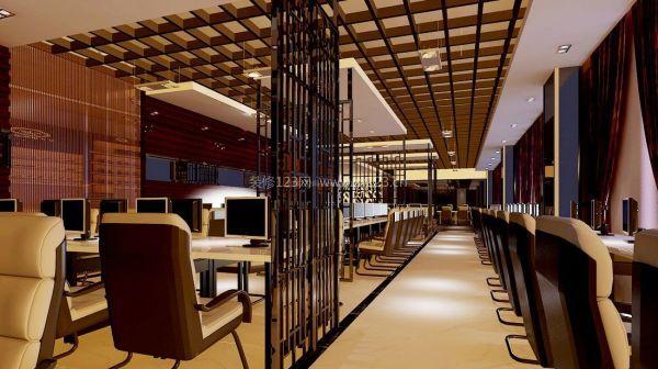 网吧吊顶装修设计效果图