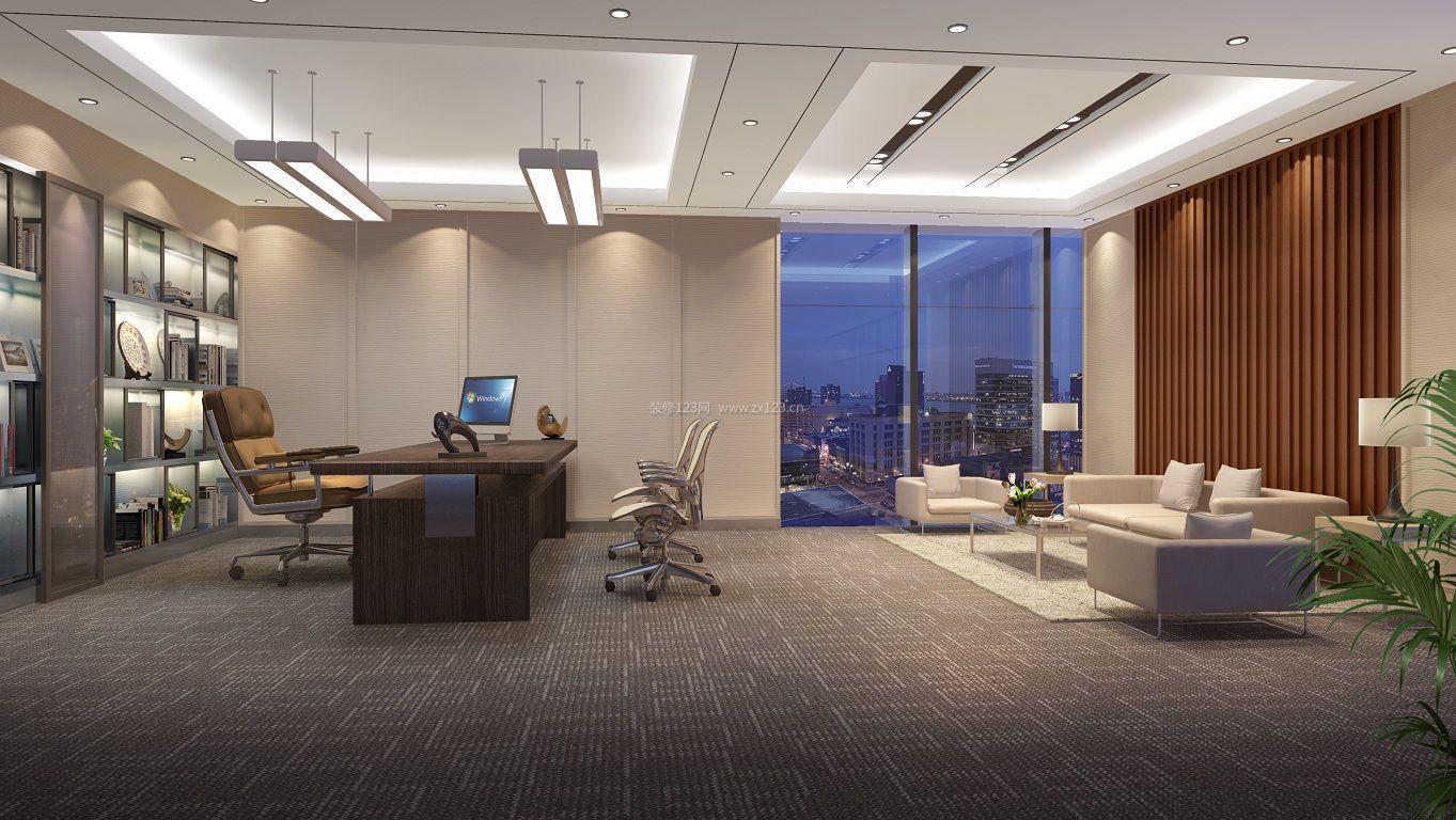 董事长办公室落地窗装修设计效果图片