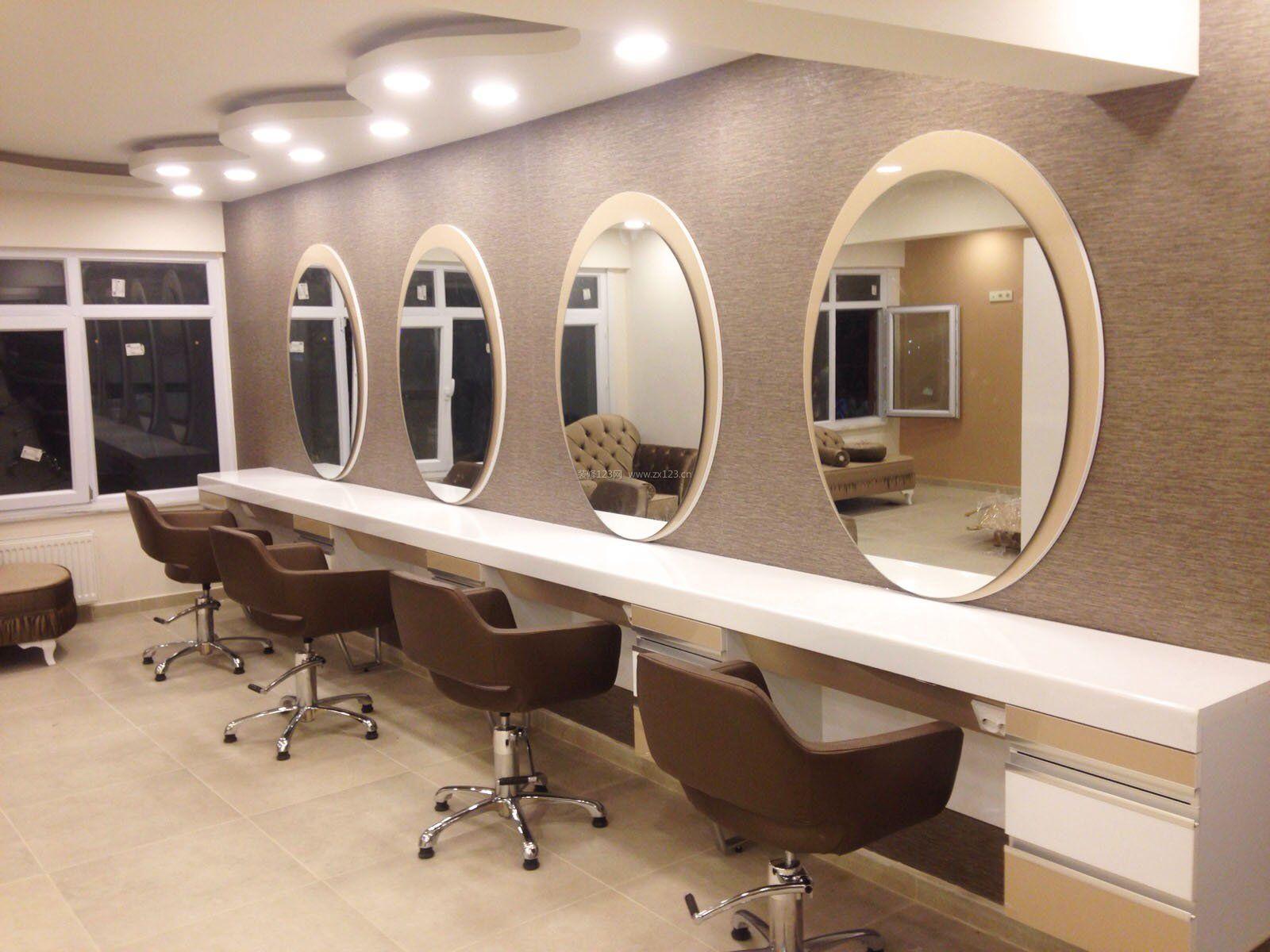 小型室内专业美发店装修设计效果图