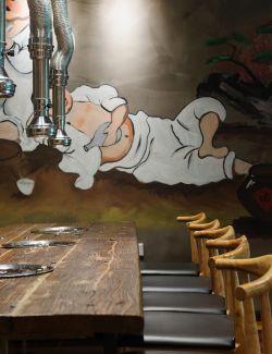快餐店門面室內裝修設計方案圖片