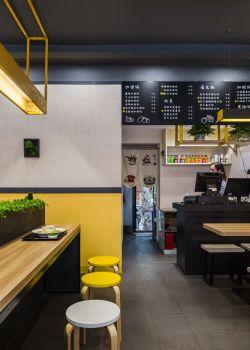 快餐店門面最新室內裝修圖片