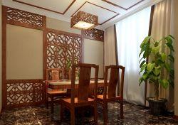 中式小餐廳裝修燈具效果圖欣賞