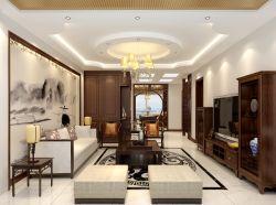 现代中式风格客厅灯具装修效果图片