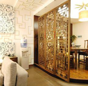 客厅餐厅隔断中式元素图案装修效果图-每日推荐