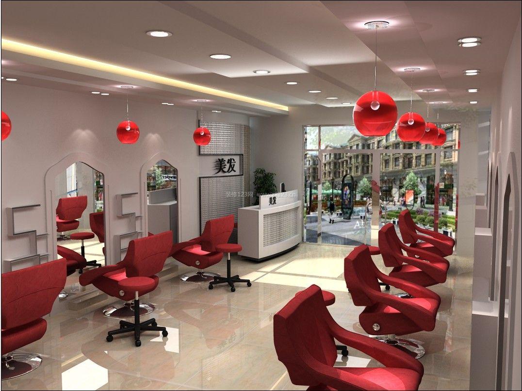 小型美发店门面室内设计装修图片