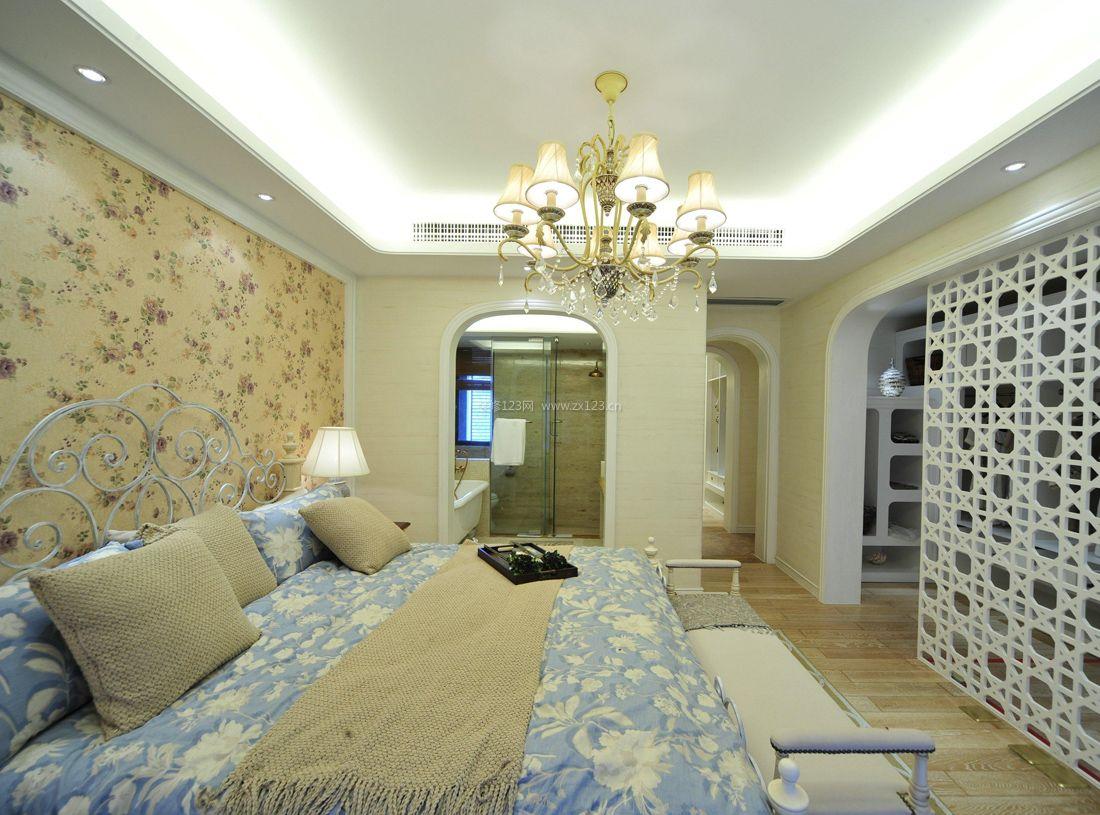 欧式田园风格女孩卧室装潢装修效果图图片