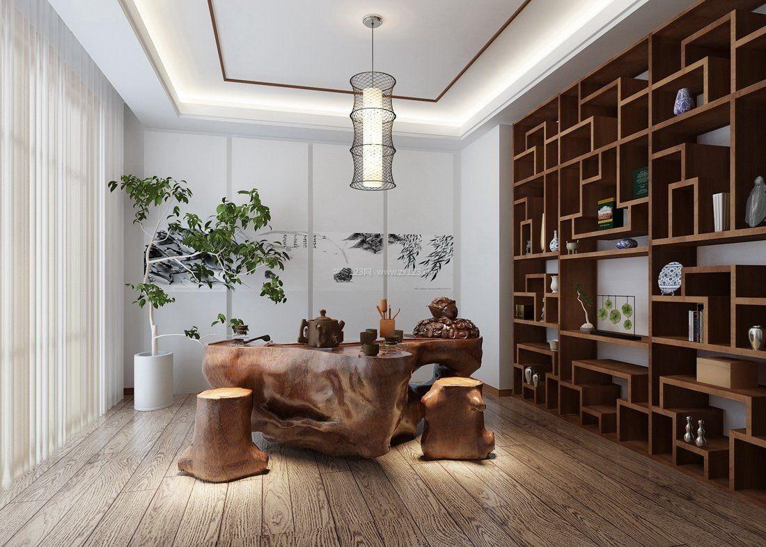 现代中式茶楼装修装潢效果图