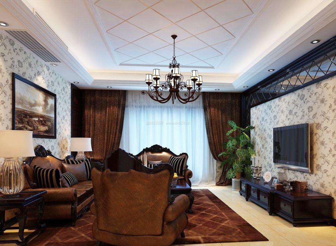 欧式家装小户型客厅设计效果图图片