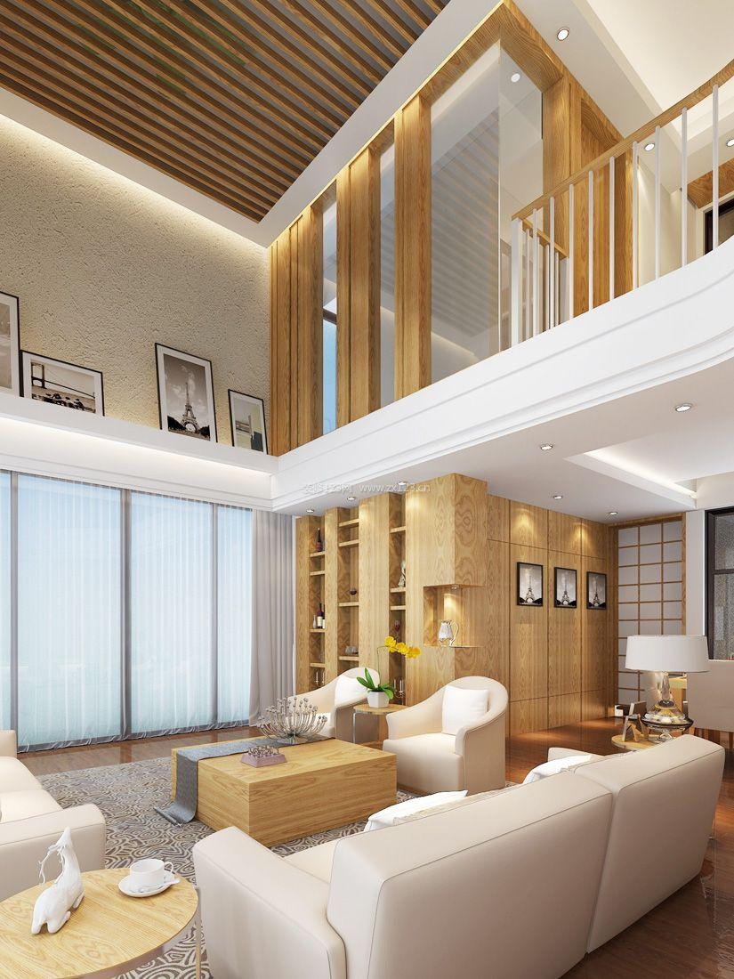南京复式小户型_小户型日式复式客厅装修效果图