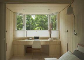 小户型日式 飘窗改书桌装修效果图片