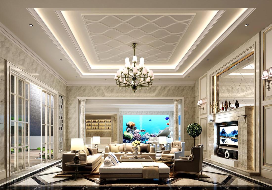 欧式大客厅装修效果图 图片合集图片