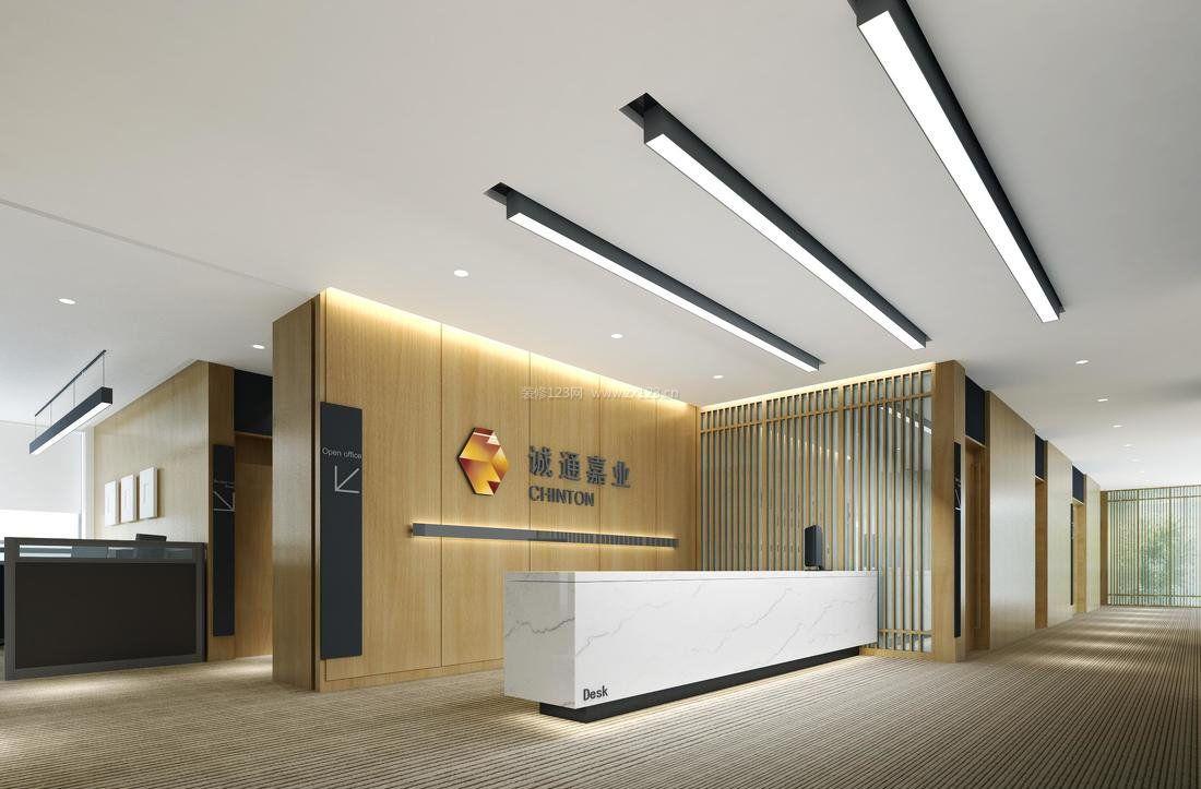 现代公司形象墙设计装饰效果图欣赏