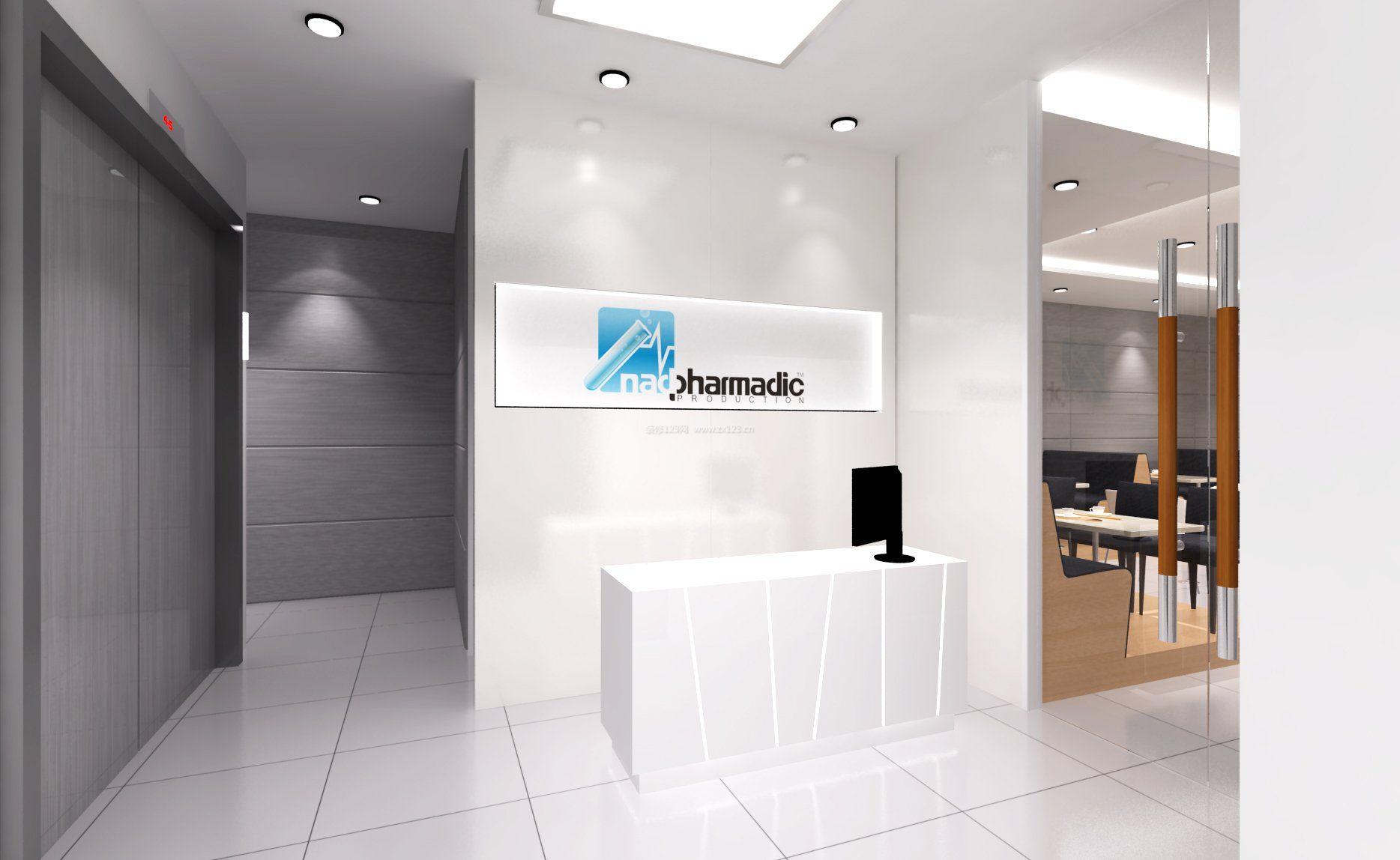 小型公司前台形象墙效果图图片