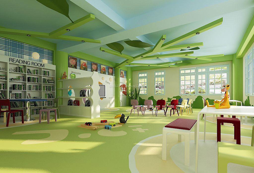 时尚幼儿园吊顶设计装修效果图片