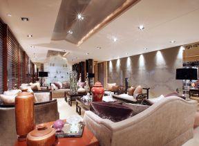 中式客廳天花 客廳吊頂設計圖