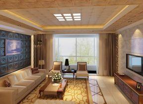中式客廳天花 天花吊頂效果圖