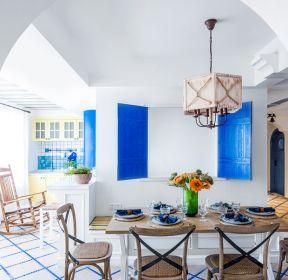 地中海风格家庭简约餐厅装修效果图-每日推荐