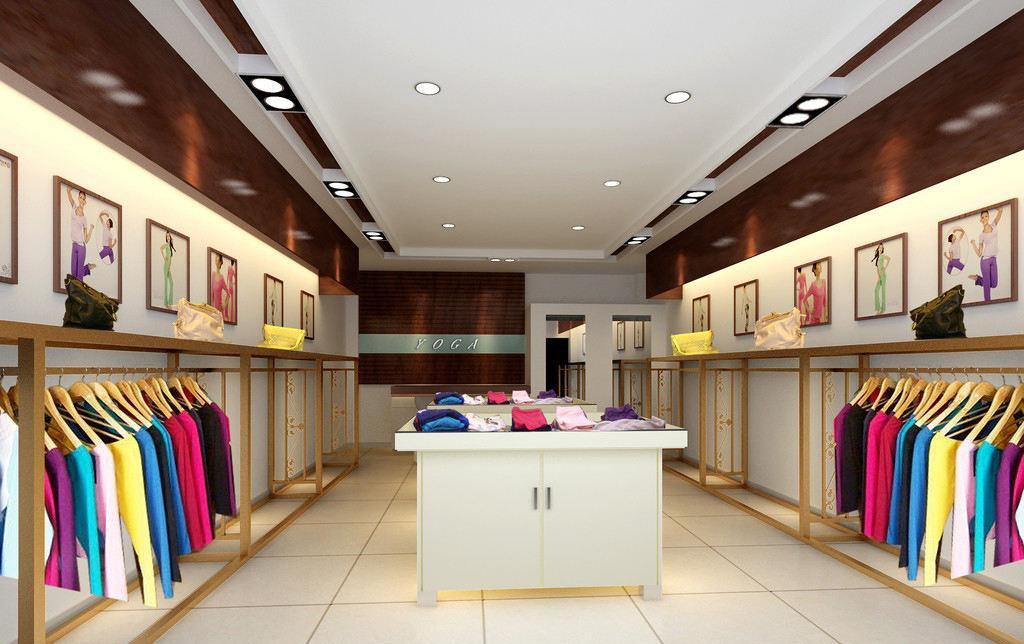 中小型服装店铺装修效果图图片
