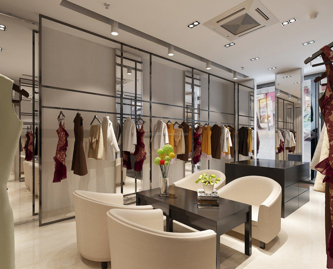 工装效果图 店面 服装店时尚女装店面装修效果图 提供者