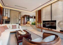 東南亞風格樣板間客廳沙發圖片