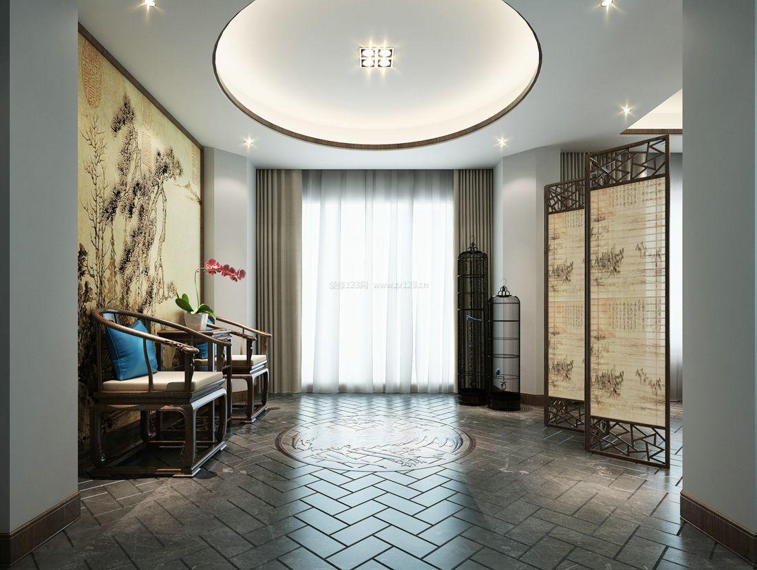 中式风格室内灯光装修效果图