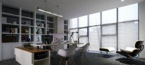 現代辦公室設計效果圖 電腦桌裝修效果圖片