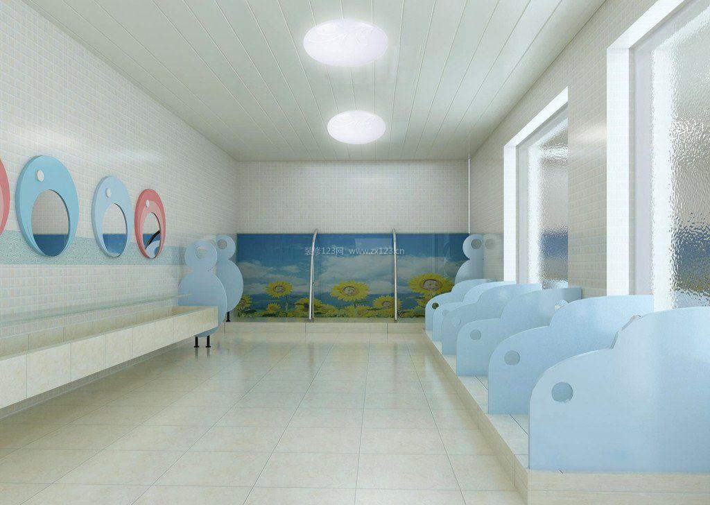 幼儿园卫生间墙纸背景墙设计图