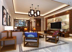 2017房屋中式客厅电视墙装修效果图大全