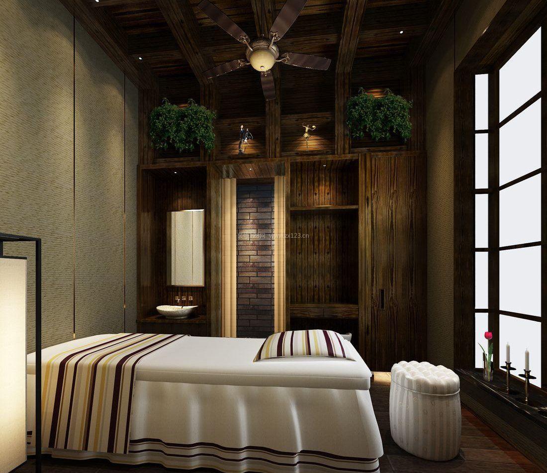 泰式美容院室内设计装修效果图