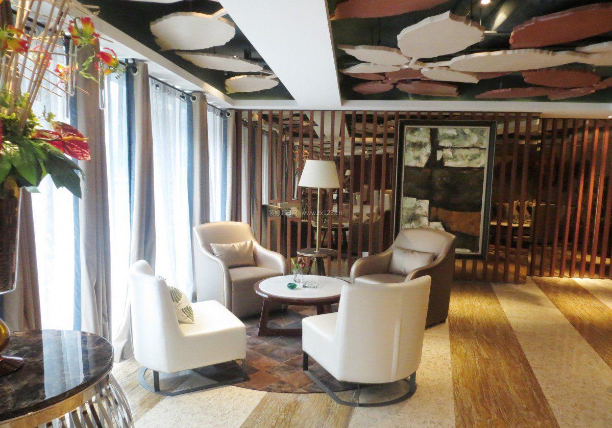 简约风格咖啡厅卡座沙发装修效果图