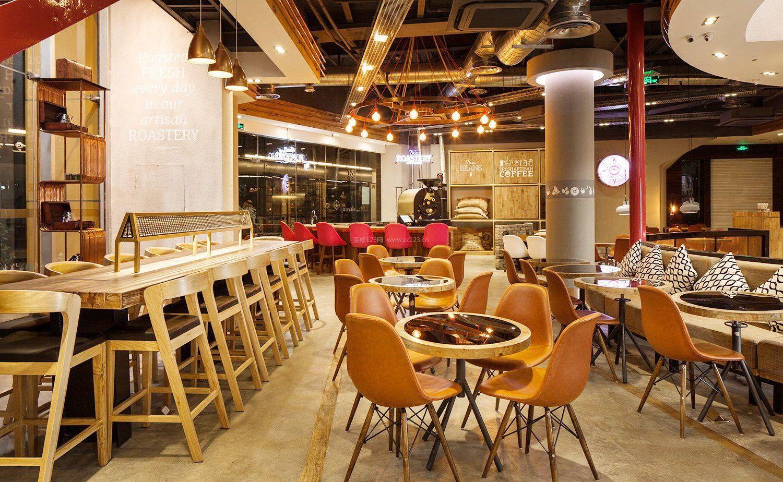 工业loft风格酒吧咖啡厅装修效果图