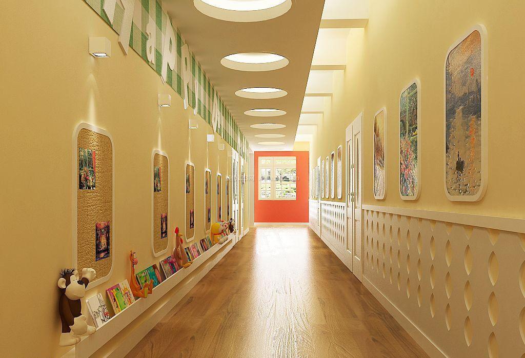 幼儿园走廊吊顶装修效果图图片