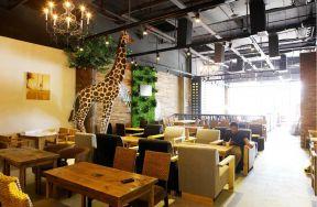 loft风格咖啡厅吊顶装修效果图图片