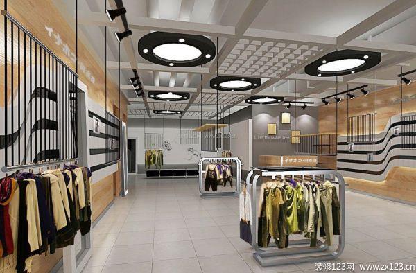 服装商场商铺装修设计效果图
