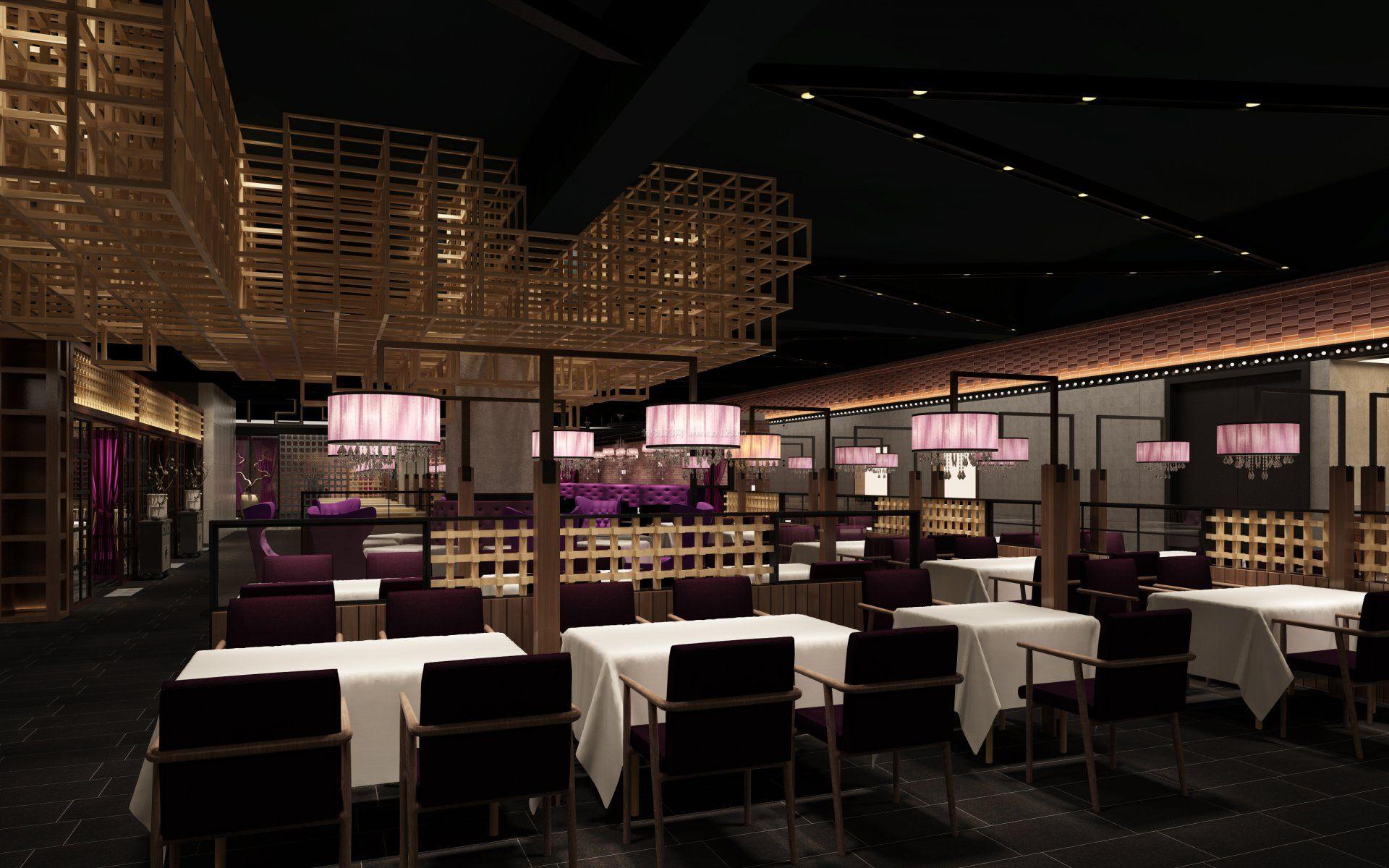 2017最新中餐馆门面室内设计装修效果图集